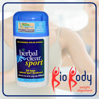Herbal Clear, Sport, 24 Hour Natural Deodorant - 50g